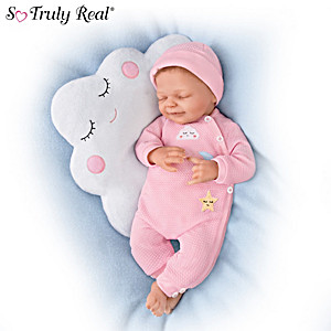 Marita Winters Baby Doll With Cloud-Shaped Pillow