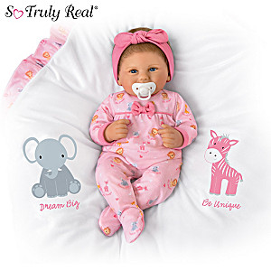 Violet Parker Baby Doll With Magnetic Pacifier And Blanket