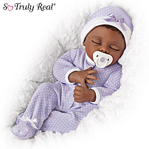 "Linda Murray ""Amara"" Poseable Baby Doll With Custom Sleeper"