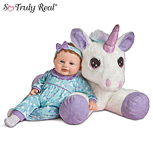 """Mia And Sparkle"" Violet Parker Baby Doll With Plush Unicorn"