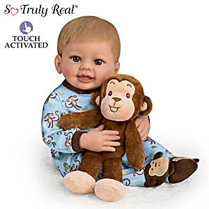 """Mason And Mo"" Interactive Baby Doll & Plush Monkey Set"