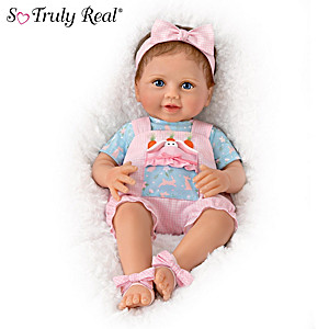 """Peekaboo Bunny"" Baby Doll With Removeable Plush Bunny"