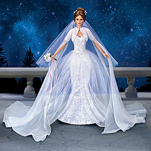 Cindy McClure Porcelain Bride Doll With Transforming Gown