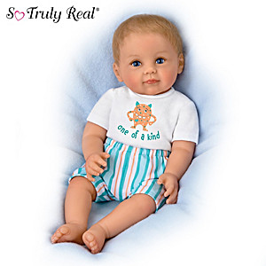 Ping Lau Lifelike Poseable Baby Doll with Magnetic Pacifier