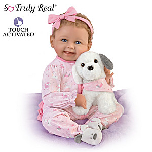 """Interactive Layla Doll With Plush Puppy """"Giggle"""" And """"Bark"""""""