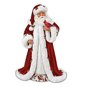 "Karen Vander Logt ""Winter Blessings"" Musical Santa Doll"