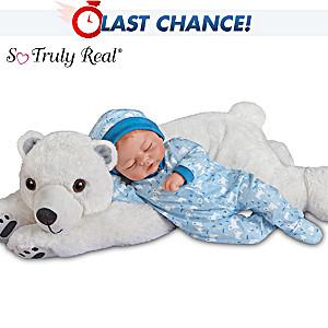 "Violet Parker ""Brayden"" Boy Baby Doll With Plush Polar Bear"