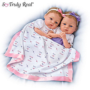 "Waltraud Hanl ""Born Together Friends Forever"" Baby Doll Set"