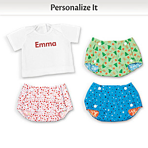 Reversible Baby Doll Diaper Covers & Personalized Tee-Shirt