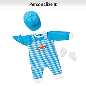 """Playful Pup"" Personalized Outfit For 17"" - 19"" Baby Dolls"