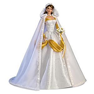 Cindy McClure Porcelain Bride Doll With 3-Piece Ensemble