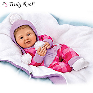 "Ping Lau ""Happy Camper"" Baby Doll With Custom Sleeping Bag"