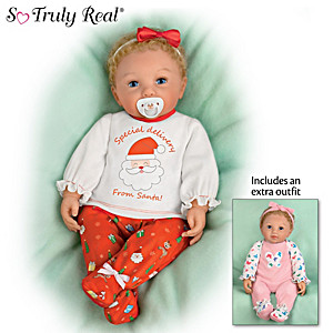"""""""Mommy's Girl"""" Holiday Edition Baby Doll With Two Outfits"""