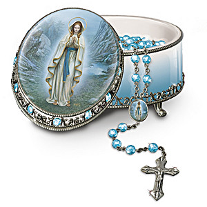 Our Lady Of Lourdes Rosary Music Box