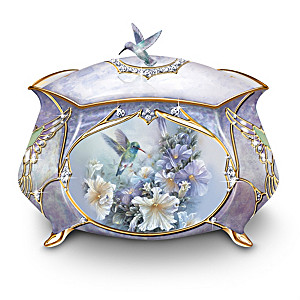 Lena Liu Hummingbirds Porcelain Music Box