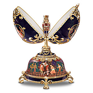 The Russian Nutcracker Heirloom Porcelain Musical Egg