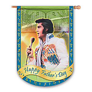 Elvis Presley Happy Father's Day Flag