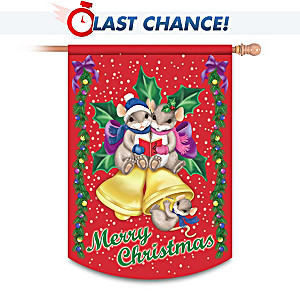 Charming Tails Christmas Decorative Flag