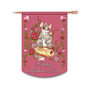 """Charming Tails """"Happy Mother's Day"""" Decorative Flag"""
