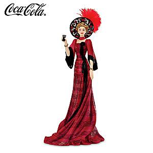COCA-COLA Elegant Victorian-Style Woman Figurine