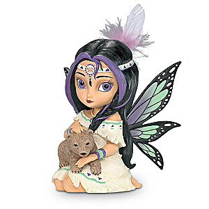 "Jasmine Becket-Griffith ""Spirit Of Power"" Fairy With Bear"