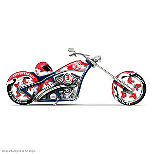 Boston Red Sox Home Run Racer Motorcycle And Helmet Figurine