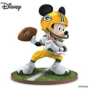 "Mickey Mouse Green Bay Packers ""Quarterback Hero"" Figurine"
