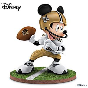 "Mickey Mouse New Orleans Saints ""Quarterback Hero"" Figurine"