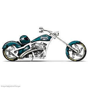 Philadelphia Eagles Chopper With Custom Paint Scheme
