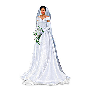 Michelle Obama Graceful Bride Figurine With Collector's Card