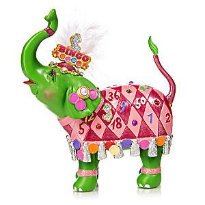 "Margaret LeVan ""Bingo Bling"" Vegas-Style Elephant Figurine"