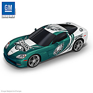 Philadelphia Eagles Chevrolet Corvette Cruiser Car Sculpture