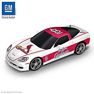 """St. Louis Cardinals """"Home Run Cruiser"""" Corvette Sculpture"""