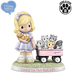 """Precious Moments """"Love Is The Purr-fect Gift"""" In Porcelain"""