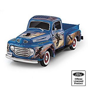 1:36-Scale Ford F1 Sculpture With Ted Blaylock Eagle Art