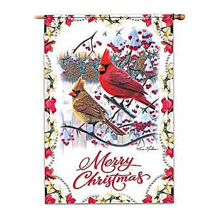 Merry Christmas Flag With Kim Norlien Songbird Art