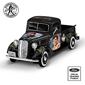 Elvis Tribute 1:36-Scale Sculpted Ford Truck With Portraits