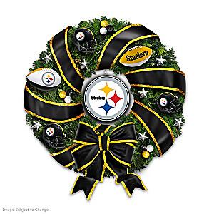 NFL-Licensed Pittsburgh Steelers Christmas Wreath