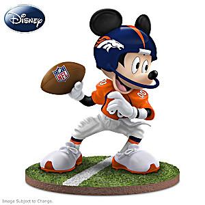 """Mickey Mouse Denver Broncos """"Quarterback Hero"""" Figurine"""