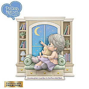 Granddaughter, I Love You To The Moon And Back Figurine