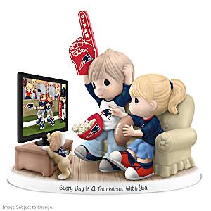 Precious Moments New England Patriots Fan Porcelain Figurine