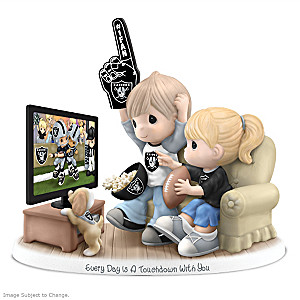 Precious Moments Las Vegas Raiders Fan Porcelain Figurine