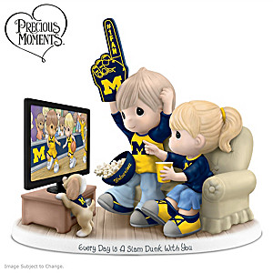 Precious Moments Michigan Wolverines Fan Porcelain Figurine
