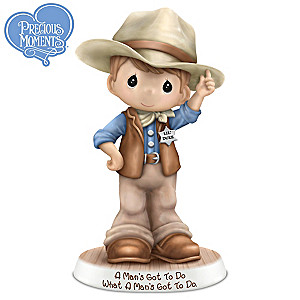 Precious Moments John Wayne Tribute Cowboy Figurine