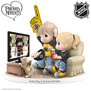 Precious Moments Boston Bruins® Fan Porcelain Figurine