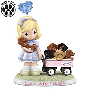 "Precious Moments ""Love Is The Paw-fect Gift"" Figurine"
