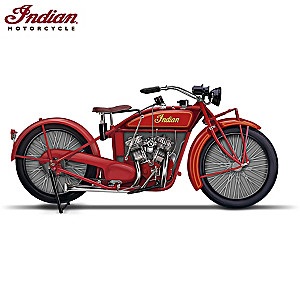 1923 Indian Motorcycle Miniature Replica Sculpture