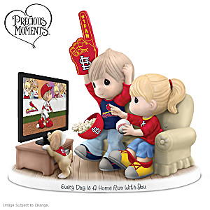 Precious Moments St. Louis Cardinals Fan Porcelain Figurine