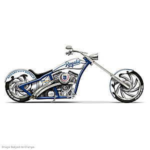 "Kansas City Royals ""Take The Crown Cruiser"" Chopper Figurine"