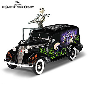 1:18-Scale The Nightmare Before Christmas Hearse Sculpture